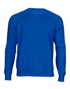 Мужской свитшот Fruit of the Loom CLASSIC RAGLAN SWEAT Ярко-синий