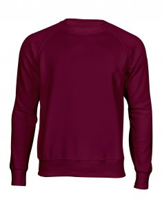 Мужской свитшот Fruit of the Loom CLASSIC RAGLAN SWEAT Бордовый